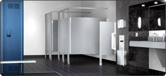 Awesome Bathroom Partitions Installation Decorating Design Of - Steel bathroom partitions